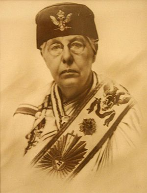 Co-Freemasonry - Annie Besant wearing 33° Masonic regalia.
