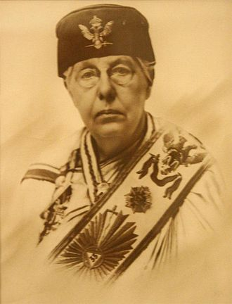 Co-Freemasonry - Annie Besant wearing 33° Masonic regalia.