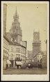 Anoniem - carte de visite, Belfort en Sint-Baafskathedraal in Gent.tif