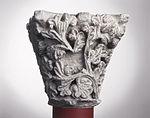 Anonyme toulousain - Chapiteau de colonne simple , Rameaux - Musée des Augustins - ME 215 (2).jpg