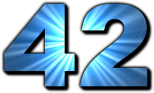 42 (number) - The Answer to the Ultimate Question of Life, The Universe, and Everything.