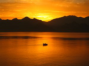 Taurus Mountains - Image: Antalya Sunset