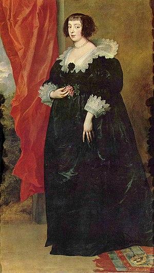 Marguerite of Lorraine - Portrait by van Dyck