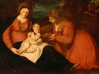 Madonna and Child with Saint Dorothy