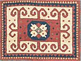Antique Caucasian Kazak Rug Ram's Horn Symbology.jpg