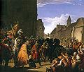 Anton Petter, Wenzel bittet Rudolf von Habsburg um die Leiche seines Vaters Przemysl Ottokar.jpg