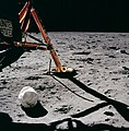Apollo 11 first photo by Neil Armstrong after setting foot on Moon (48334390986).jpg