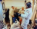 Apollo 16 crew in White Room prior to launch.jpg