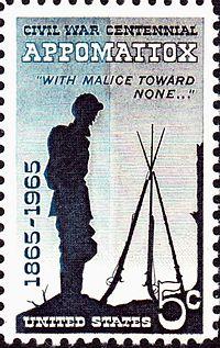 Appomattox Centennial 1965 issue--5c