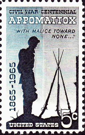 American Civil War Centennial - Issuance of this postage stamp in April 1965 marked the end of the Civil War Centennial.