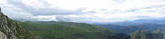 Aralar Range - View of the Aralar mountains from Txindoki