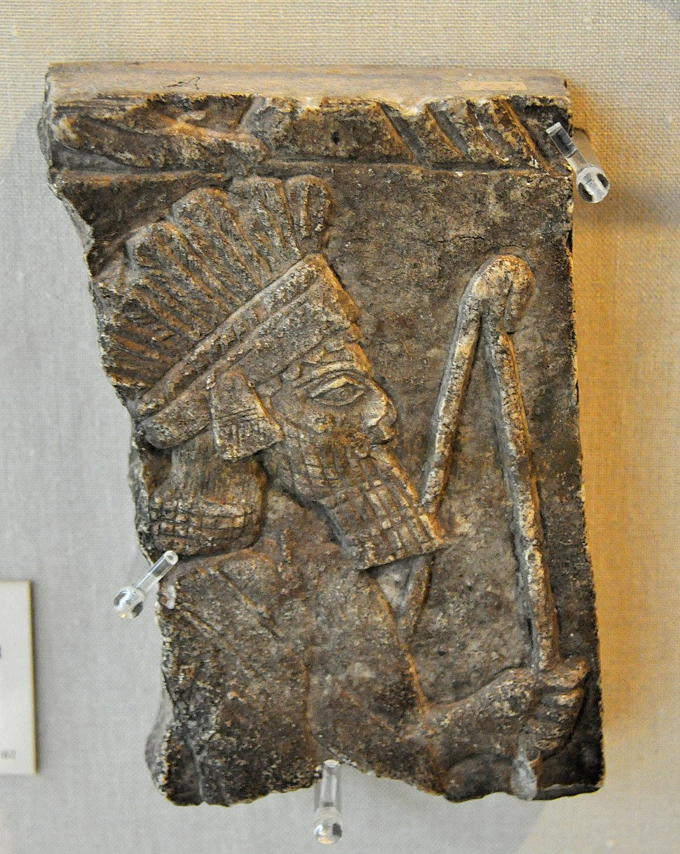 Archer wearing feather headdress. Alabaster. From Nineveh, Iraq. Reign of Ashurbanipal II, 668-627 BCE. The Burrell Collection, Glasgow, UK