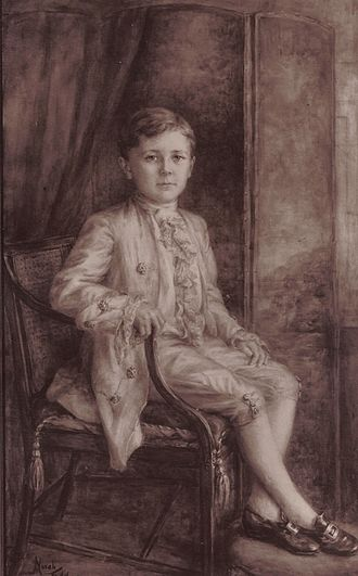 Archibald Montgomerie, 17th Earl of Eglinton - Lord Montgomerie in 1921 from a painting presented by the tenantry of Eglinton estates