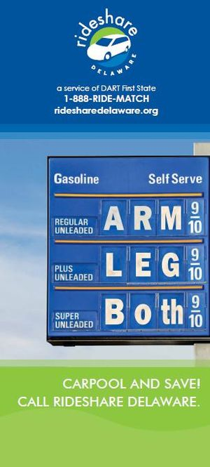 English: Gas Prices Poster