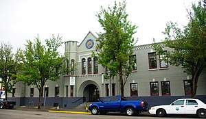 National Register of Historic Places listings in Linn County, Oregon - Image: Armory Building Albany Oregon