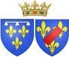 Arms of Françoise Marie de Bourbon, Légitimée de France as Duchess of Orléans.png