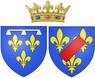 Arms of Françoise Marie de Bourbon, Légitimée de France as Duchess of Orléans.png
