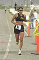 Army 1st Lt. Samantha Khoo Schofield Barracks, Hawii competes in the 6.2 mile run during the 2002 US Armed Forces Triathlon, June 1, 2002 020601-F-BP241-090.jpg