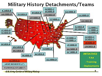 Military history detachment - Image: Army Center of Military History Brief on MH Ds
