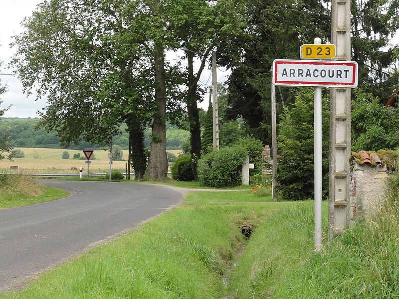 Arracourt (M-et-M) city limit sign
