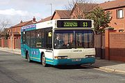 Arriva Cymru operate the majority of bus services