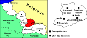 Arrondissement of Valenciennes - Image: Arrondissement valenciennes nord 59