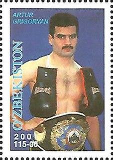Artur Grigorian Uzbekistani boxer