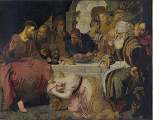 Christ in the house of Simon the Pharisee