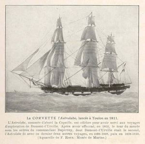Raymond-Jean-Baptiste de Verninac Saint-Maur - Corvette ''l'Astrolabe'', Verninac's first command