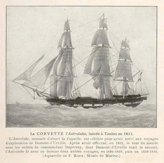 Raymond-Jean-Baptiste de Verninac Saint-Maur - Corvette ''l'Astrolabe'', Verninac's first command