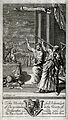 Astronomy; figues in classical dress observing a meteor or c Wellcome V0024886.jpg