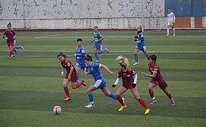 Konak Belediyespor - Konak Belediyespor (blue) at away match against Ataşehir Belediyespor (2013–14 season)