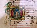 Attavante degli attavanti (attr.), due graduali, 1470-80 ca., 02 san giovannino in iniziale D.jpg
