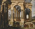 Attributed to François de Nomé Architectural Capriccio with Christ and Disciples.jpg