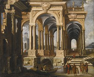 Architectural Capriccio with Christ and Disciples