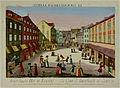 Auerbachs Hof in Leipzig um 1780, Kupferstich. Foto H.-P.HAACK.JPG