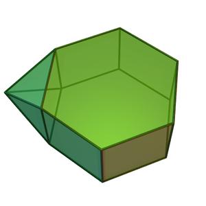 Augmented hexagonal prism - Image: Augmented hexagonal prism