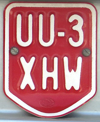 Vehicle registration plates of Austria - Moped plate