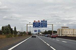 A6 autoroute - A6a and A6b at Paris