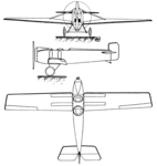 Avia BH-1 3-view Les Ailes October 13,1921.png