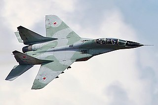 Mikoyan MiG-29 Twin-engine jet fighter aircraft