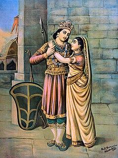 Abhimanyu Tragic hero and the bravest warrior of the Indian epic Mahabharata,