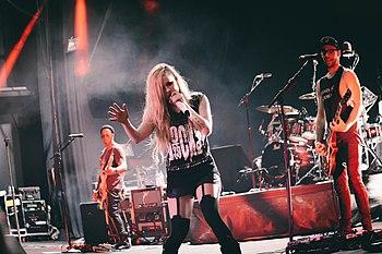 Avril Lavigne in concerto a Brasilia nel 2014