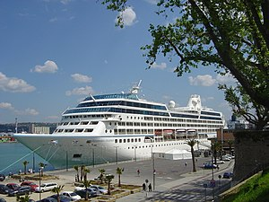 Azamara at noon in Koper.JPG