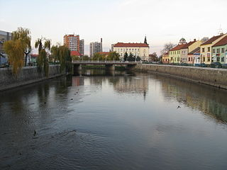 Thaya river in Central Europe