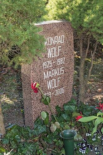 Konrad Wolf - Grave in Zentralfriedhof Friedrichsfelde.