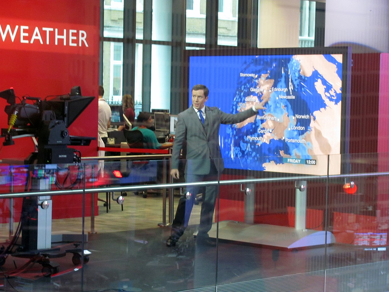 Bbc weather - File Bbc Weather Forecast From Broadcasting House Newsroom Jpg