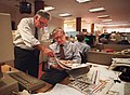 BILL German with Jack Breibart in the San Francisco Chronicle newsroom, 1994.jpg