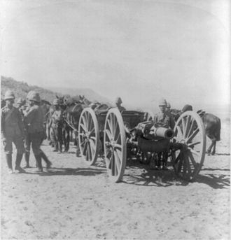 BL 5-inch howitzer - Approaching Maddox Hill, Northern Cape, January 1900