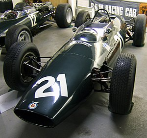 Four-wheel drive in Formula One - The BRM P67 in the Donington Grand Prix Collection. Note the slender half shafts to the front wheels.